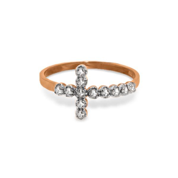 Genuine 0.18 ctw Diamond Anniversary Ring 14KT Rose Gold - REF-39K4V