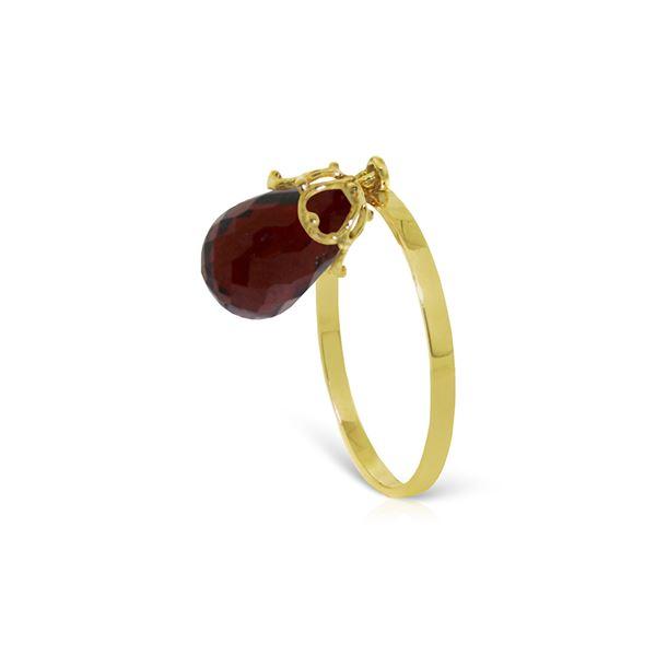 Genuine 3 ctw Garnet Ring 14KT Yellow Gold - REF-22H5X