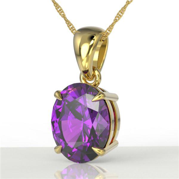 2.5 ctw Amethyst Designer Necklace 18k Yellow Gold - REF-21R8K