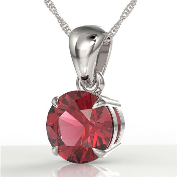 2 ctw Pink Tourmaline Designer Necklace 18k White Gold - REF-34K3Y