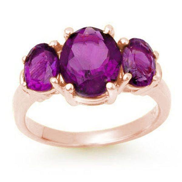 6.15 ctw Amethyst Ring 10k Rose Gold - REF-23K6Y
