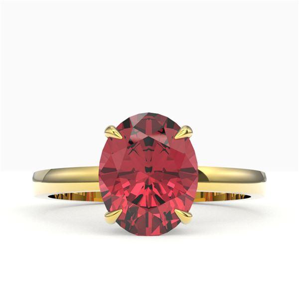 3 ctw Pink Tourmaline Designer Ring 18k Yellow Gold - REF-47N3F