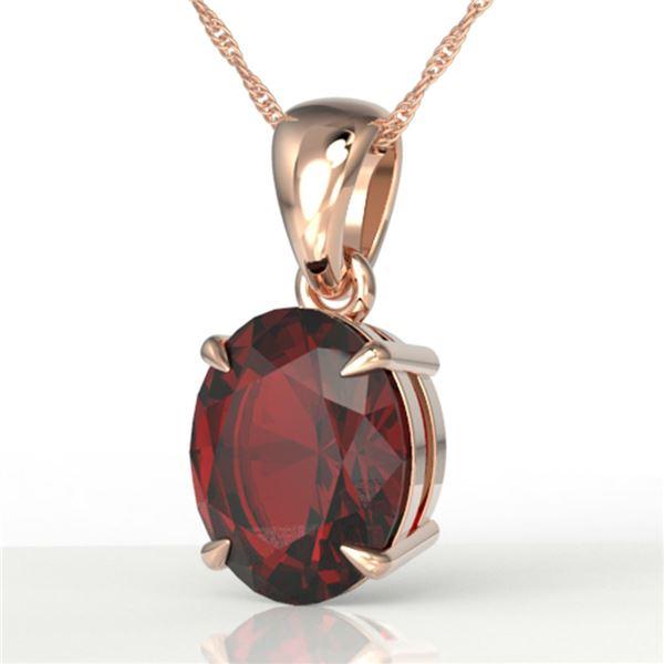 3.50 ctw Garnet Designer Necklace 14k Rose Gold - REF-25G9W