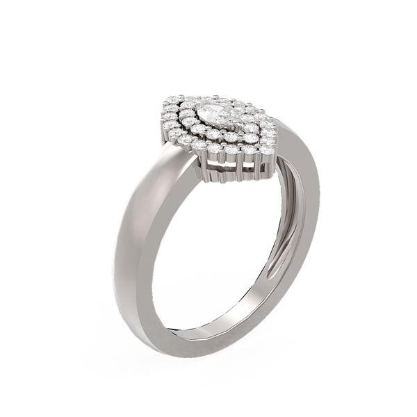0.65 ctw Diamond Ring 18K White Gold - REF-110Y8X