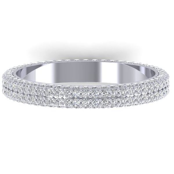 1.75 ctw Certified VS/SI Diamond Micro Eternity Ring 14k White Gold - REF-130K9Y