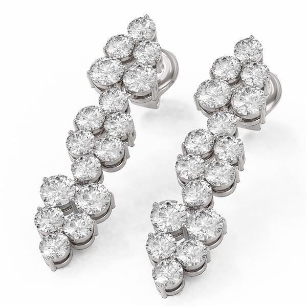 3 ctw Diamond Designer Earrings 18K White Gold - REF-234Y5X