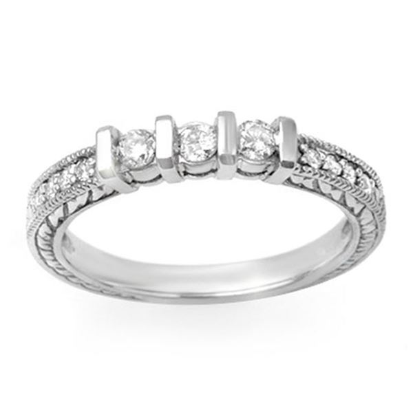 0.55 ctw Certified VS/SI Diamond Ring 14k White Gold - REF-42W2H