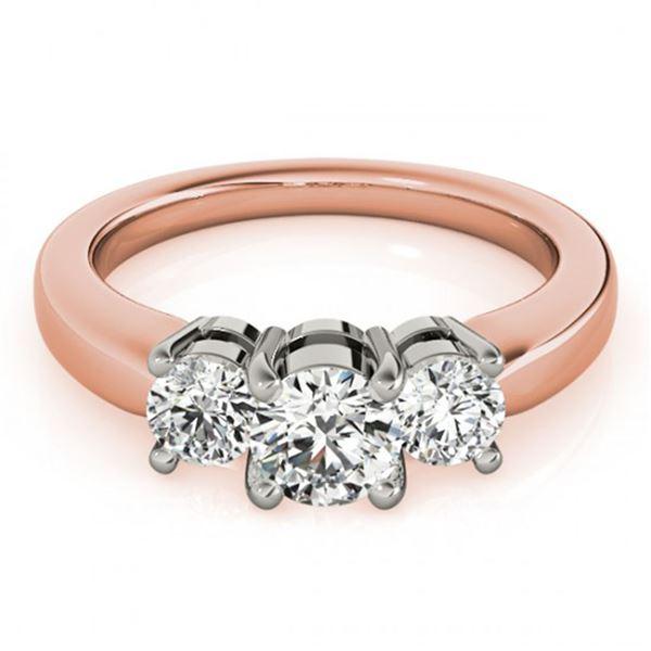 0.5 ctw Certified VS/SI Diamond 3 Stone Ring 14k Rose Gold - REF-51A5N