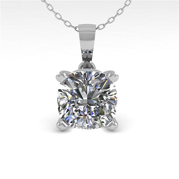 0.50 ctw VS/SI Cushion Diamond Designer Necklace 14k Rose Gold - REF-57X9A