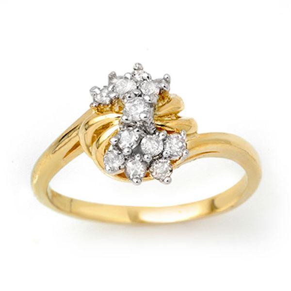 0.25 ctw Certified VS/SI Diamond Ring 10k Yellow Gold - REF-17H3R