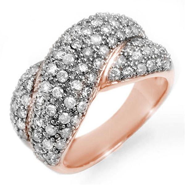 2.05 ctw Certified VS/SI Diamond Ring 14k Rose Gold - REF-154R4K