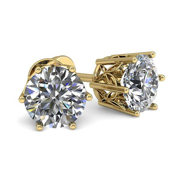 0.53 ctw Certified VS/SI Diamond Stud Earrings 18k Yellow Gold - REF-58W5H
