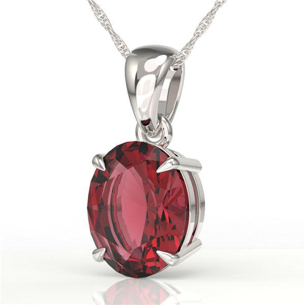 3 ctw Pink Tourmaline Designer Necklace 18k White Gold - REF-42G3W