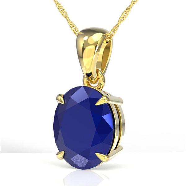 3.50 ctw Sapphire Designer Necklace 18k Yellow Gold - REF-25N9F