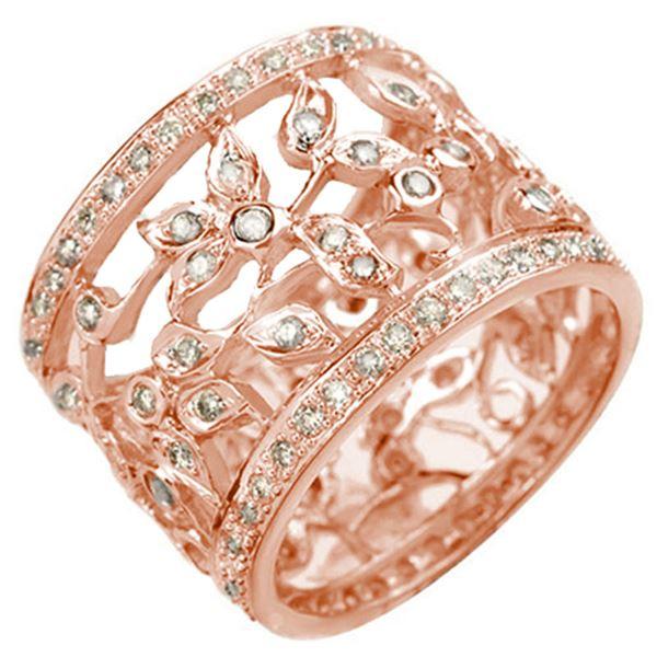 1.30 ctw Certified VS/SI Diamond Ring 14k Rose Gold - REF-143Y6X