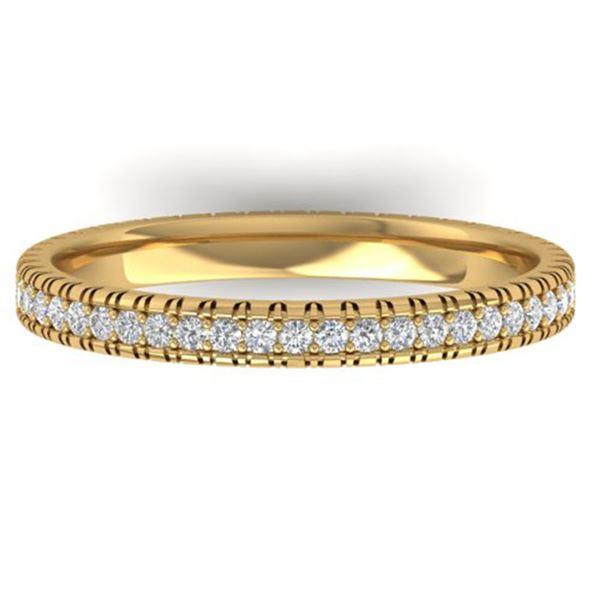 0.75 ctw Certified VS/SI Diamond Eternity Ring 14k Yellow Gold - REF-41F3M