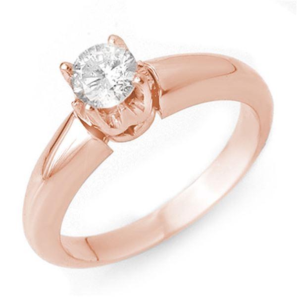 0.50 ctw Certified VS/SI Diamond Ring 14k Rose Gold - REF-79X3A