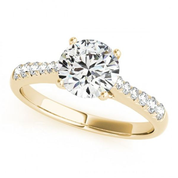 0.75 ctw Certified VS/SI Diamond Ring 18k Yellow Gold - REF-84F8M
