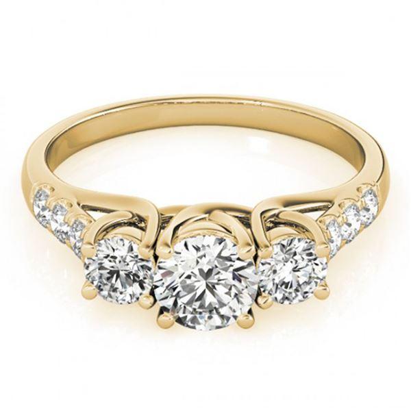 0.75 ctw VS/SI Diamond 3 Stone Ring 18k Yellow Gold - REF-72Y2X