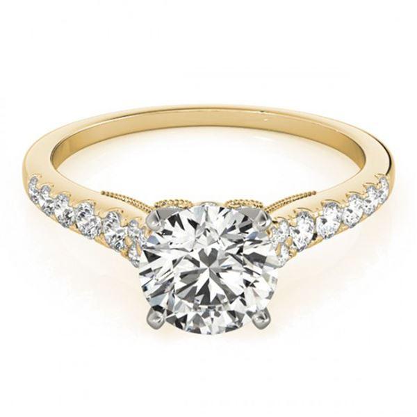 0.65 ctw Certified VS/SI Diamond Ring 18k Yellow Gold - REF-57M4G