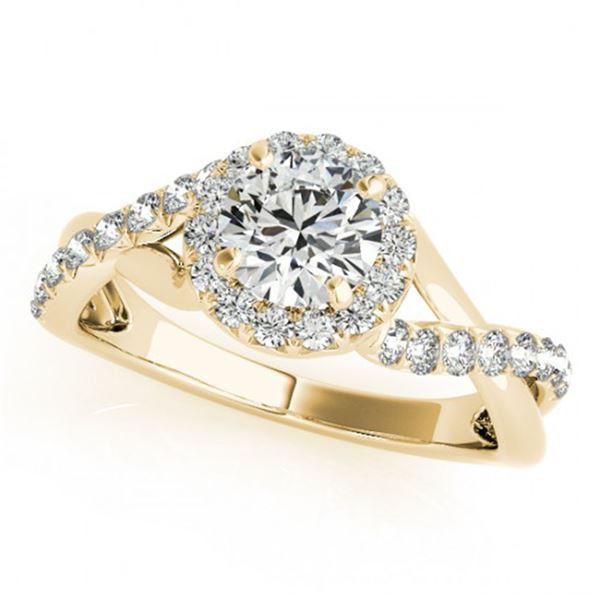 0.6 ctw Certified VS/SI Diamond Halo Ring 14k Yellow Gold - REF-52X5A