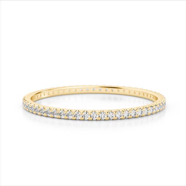 0.50 ctw Eternity Micro Pave VS/SI Diamond Ring 18k Yellow Gold - REF-30N4F