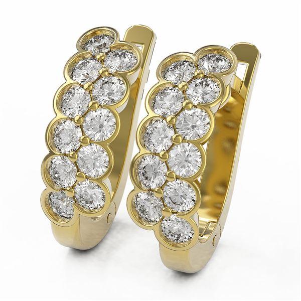 1.6 ctw Diamond Designer Earrings 18K Yellow Gold - REF-106M4G