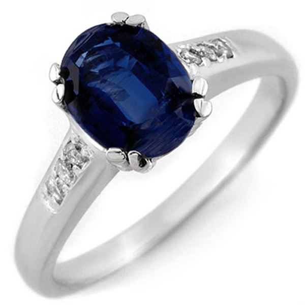 1.35 ctw Kaynite & Diamond Ring 10k White Gold - REF-27K3Y