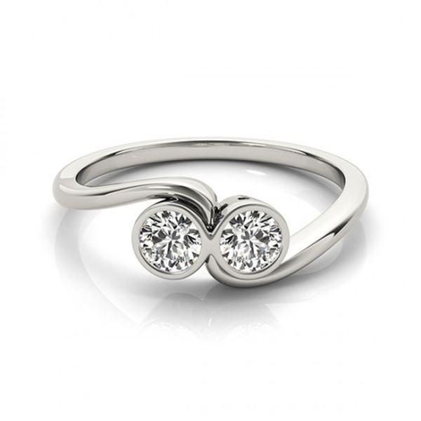 0.5 ctw VS/SI Diamond 2 Stone Ring 18k White Gold - REF-61H8R