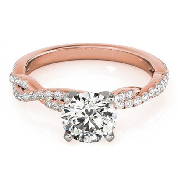 0.75 ctw Certified VS/SI Diamond Ring 18k Rose Gold - REF-99H5R