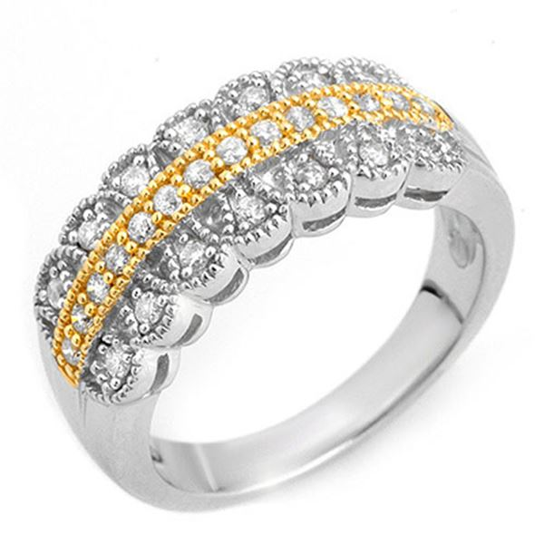 0.50 ctw Certified VS/SI Diamond Ring Solid 10K 2-Tone 10k 2-Tone Gold - REF-40W9H