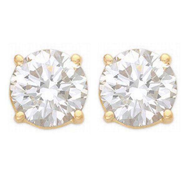 1.0 ctw Certified VS/SI Diamond Stud Earrings 14k Yellow Gold - REF-120Y3X