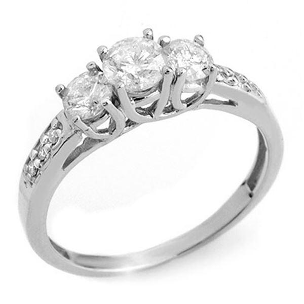 1.0 ctw Certified VS/SI Diamond Ring 14k White Gold - REF-87A5N
