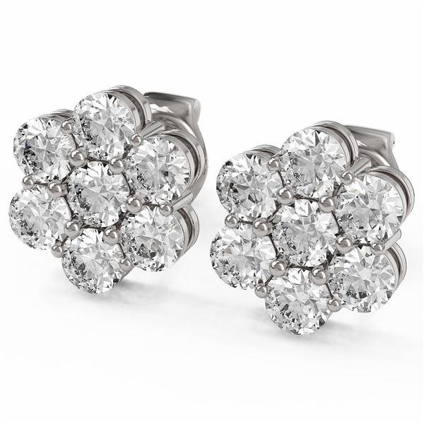 2 ctw Diamond Designer Earrings 18K White Gold - REF-129H4R