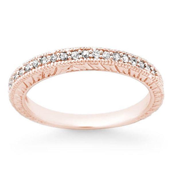 0.20 ctw Certified VS/SI Diamond Ring 14k Rose Gold - REF-25N3F