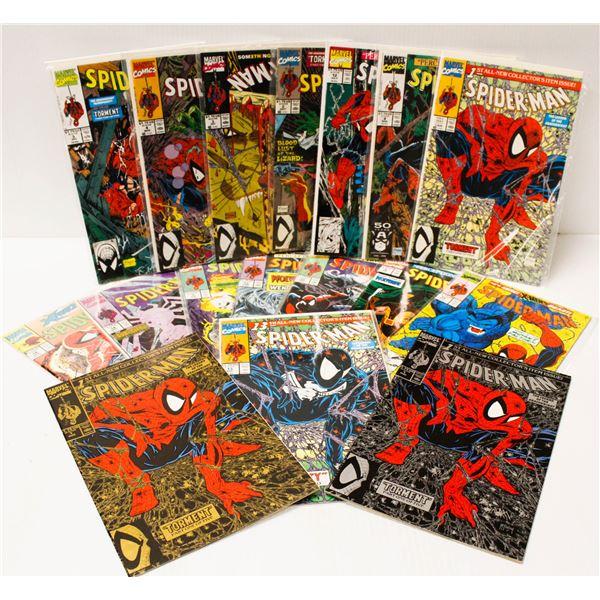 MARVEL COMICS SPIDERMAN #1-16 (3 #1 ISSUES)