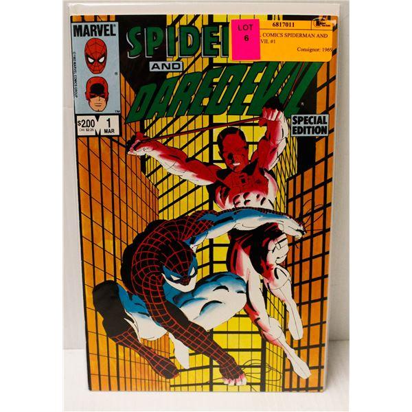 MARVEL COMICS SPIDERMAN AND DAREDEVIL #1