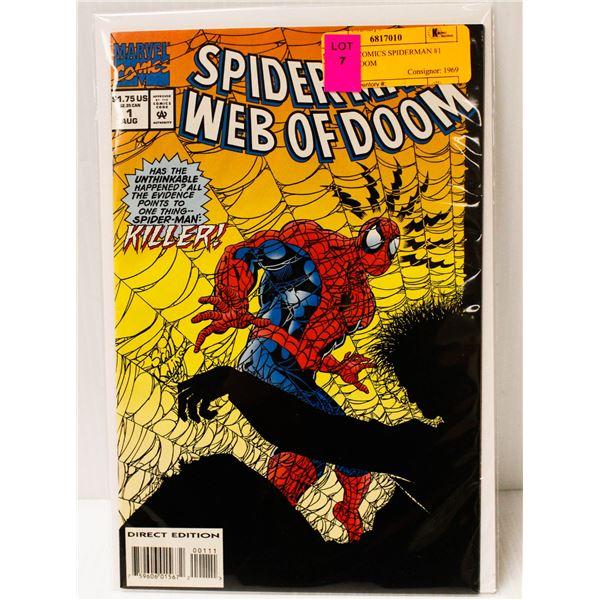 MARVEL COMICS SPIDERMAN #1 WEB OF DOOM