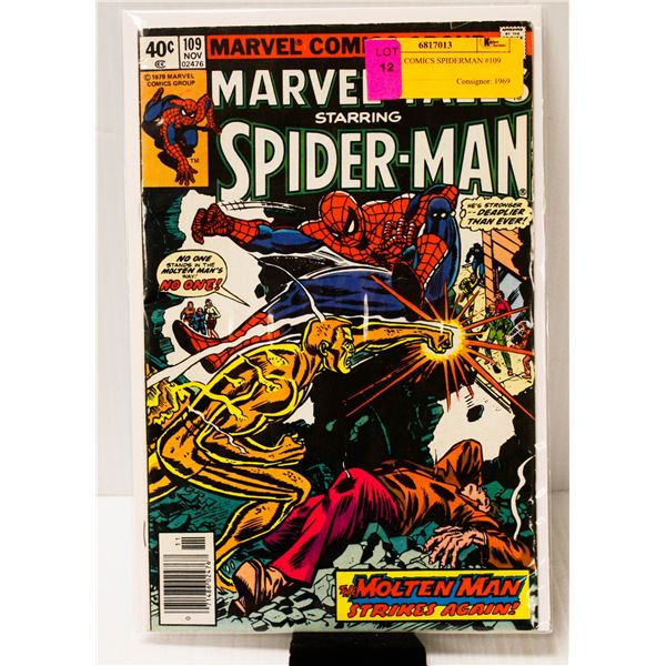 MARVEL COMICS SPIDERMAN #109