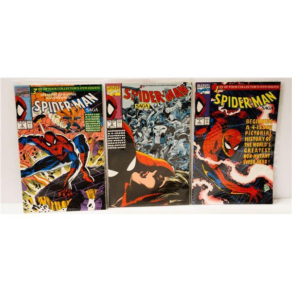 MARVEL COMICS SPIDERMAN SAGA #1-3