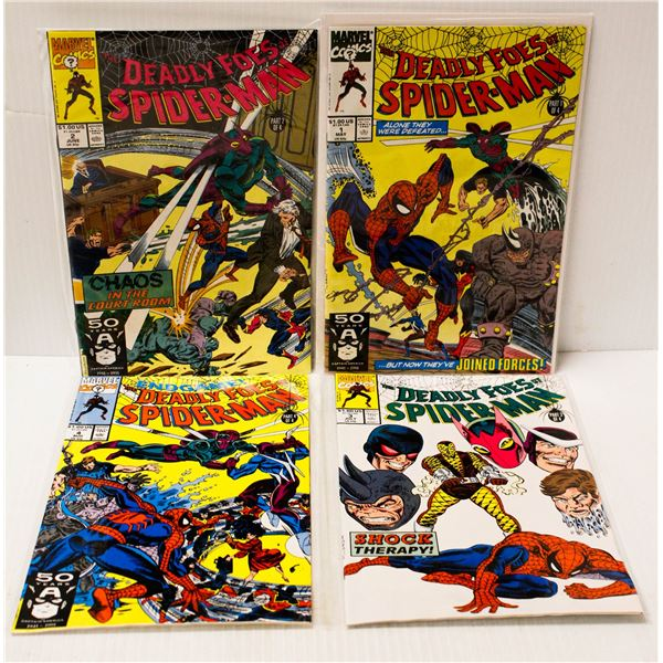 MARVEL DEADLY FOES OF SPIDERMAN #1-4