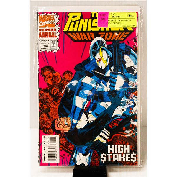 MARVEL COMICS THE PUNISHER WAR ZONE #1 64 PAGE