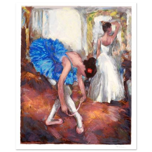 "Hedva Ferenci, ""Blue Dancer"" Limited Edition Serigraph, Numbered and Hand Signed"