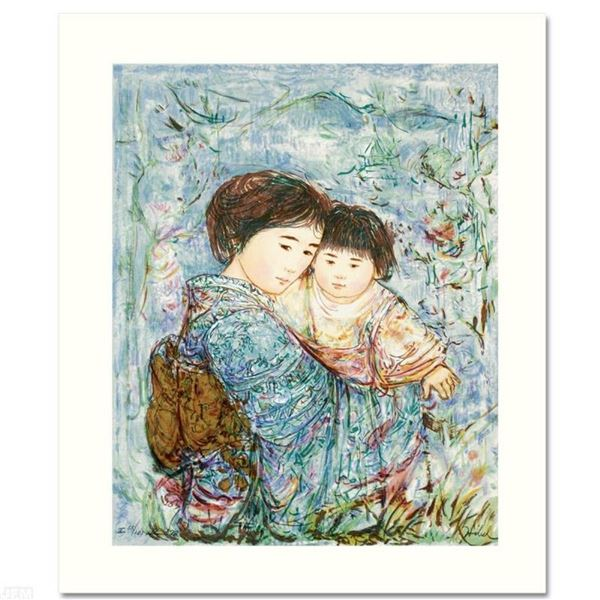 """Kyoko and Sanayuki"" Limited Edition Serigraph by Edna Hibel (1917-2014), Number"