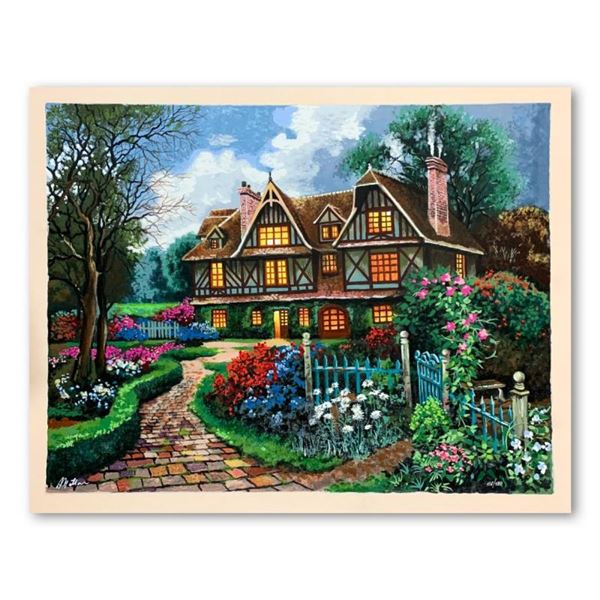 """Anatoly Metlan, """"Country Cottage"""" Hand Signed Limited Edition Serigraph on Paper"""