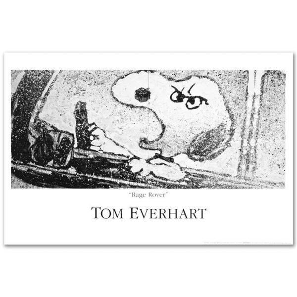 """""""Rage Rover"""" Fine Art Poster by Renowned Charles Schulz Protege Tom Everhart."""