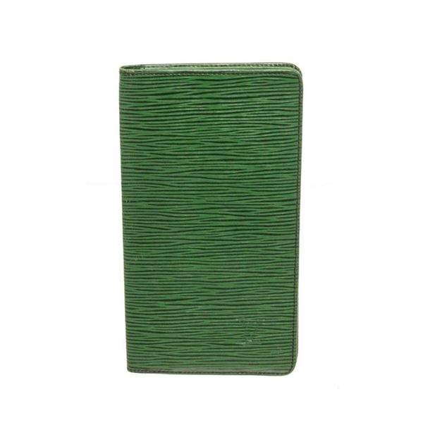 Louis Vuitton Green Epi Leather Long Card Wallet