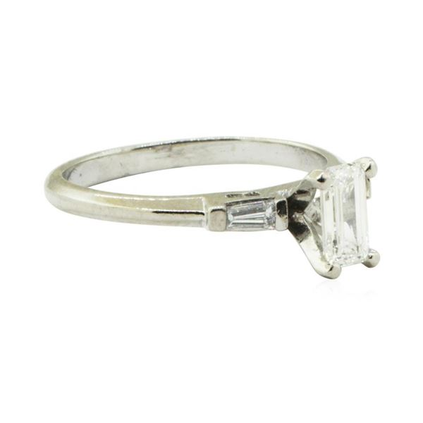 0.53 ctw Diamond Engagement Ring - Platinum