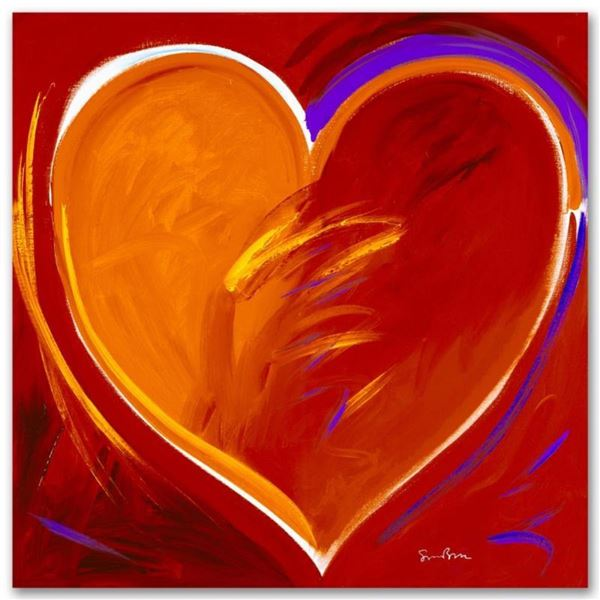 """Deep In My Heart"" Limited Edition Giclee on Canvas by Simon Bull, Numbered and"