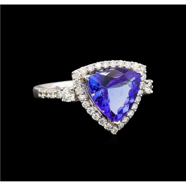 18KT White Gold 4.41 ctw Tanzanite and Diamond Ring